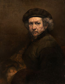 Self-Portrait with Beret and Turned-Up Collar (1659) by Rembrandt