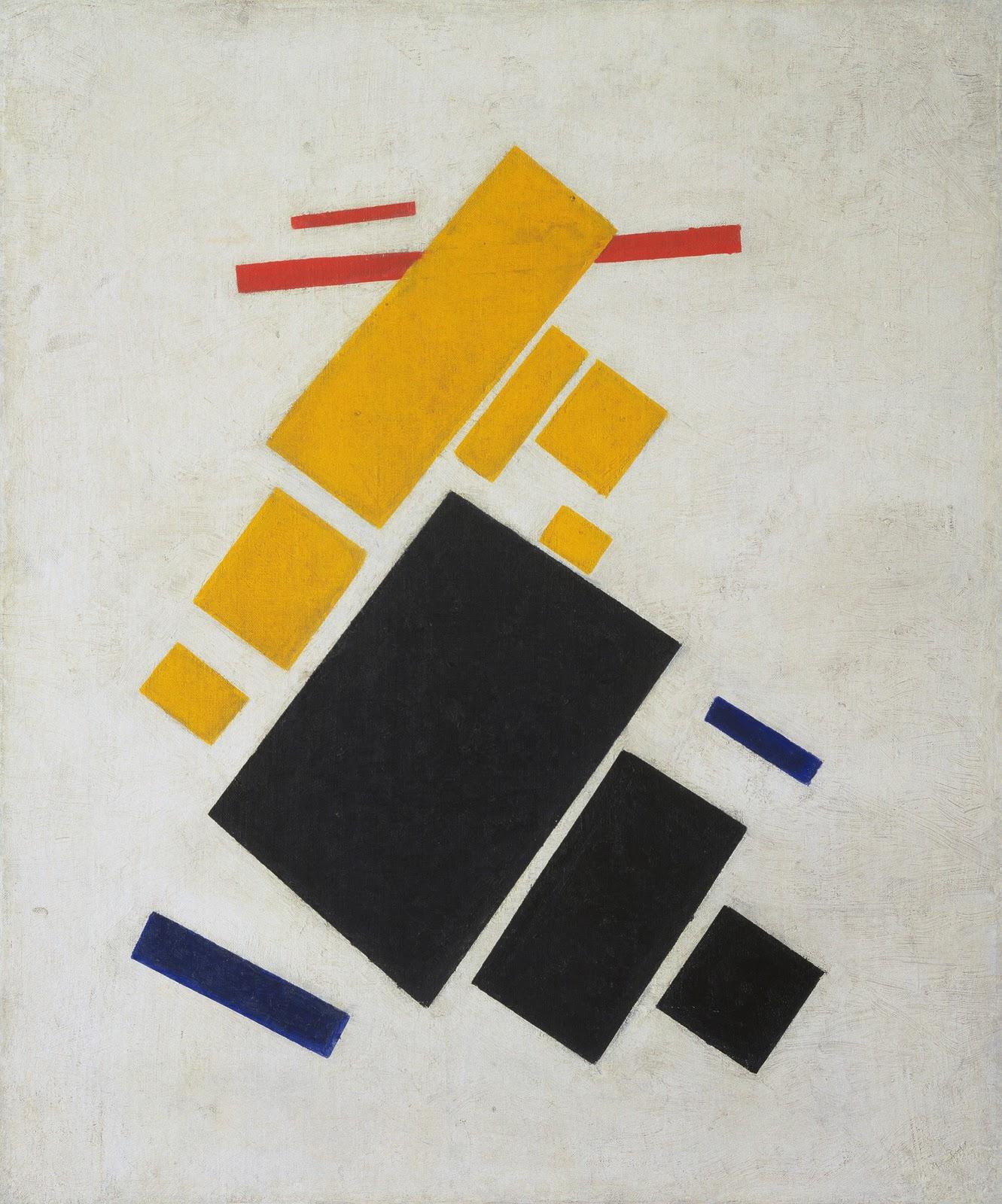 Suprematist Composition: Airplane Flying - Suprematist Composition
