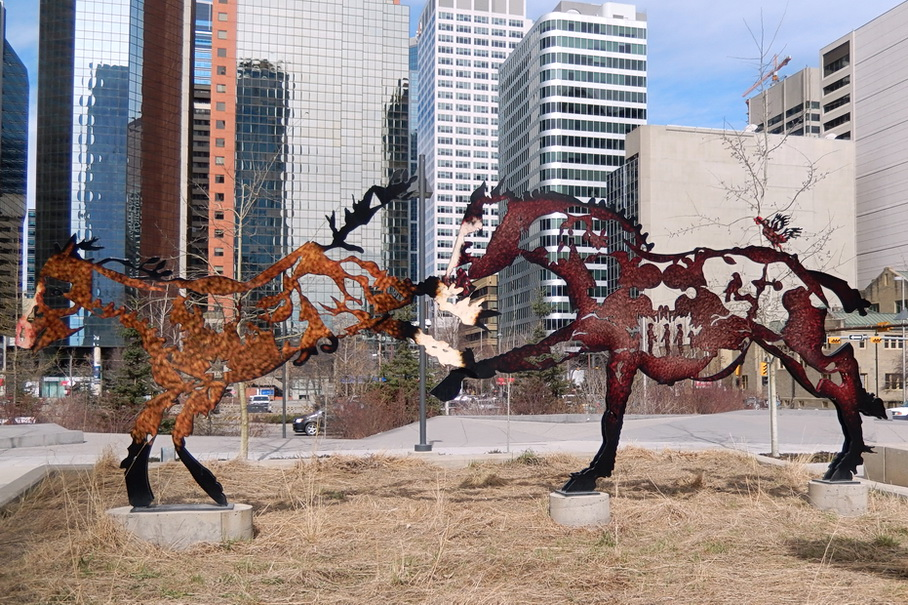OLYMPIC HORSES sculpture