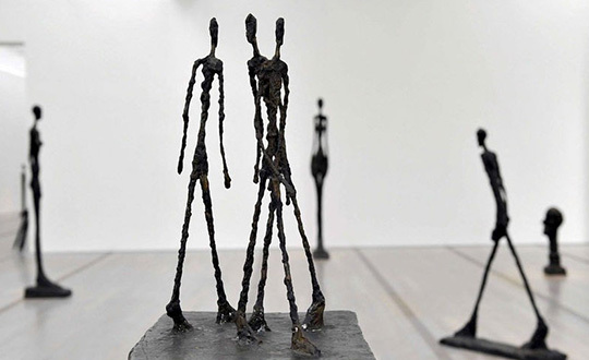 Three Men Walking II - Sculpture