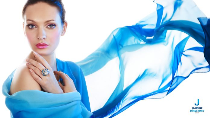Woman in Blue Scarf-high-quality