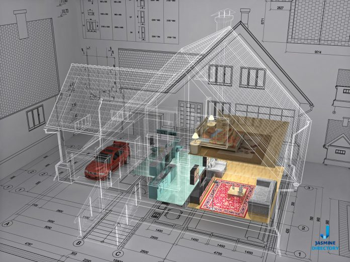 3D Isometric View the Residential House on Architect Drawing-architecture-and-design-4