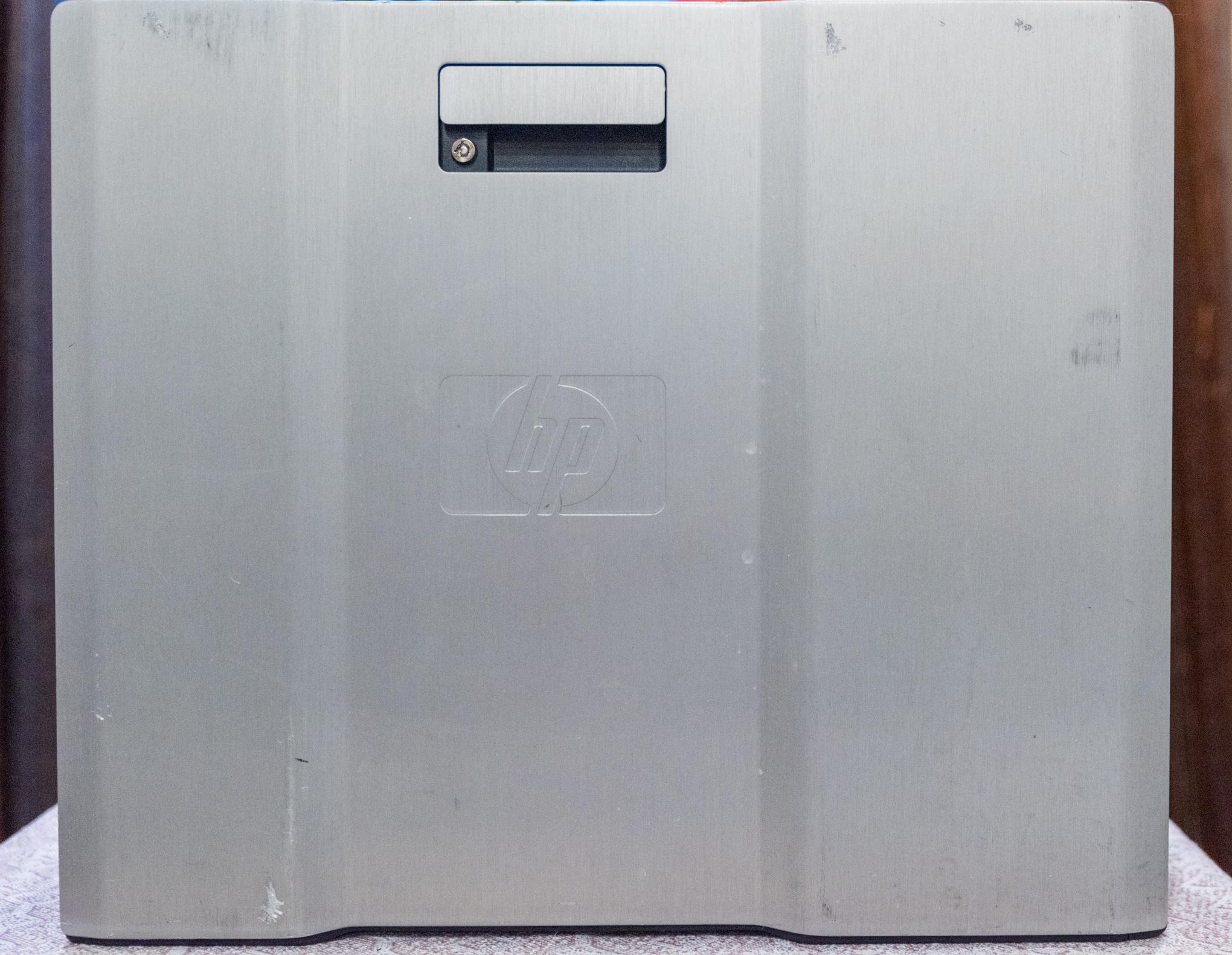 The HP Z800 exterior aluminium case