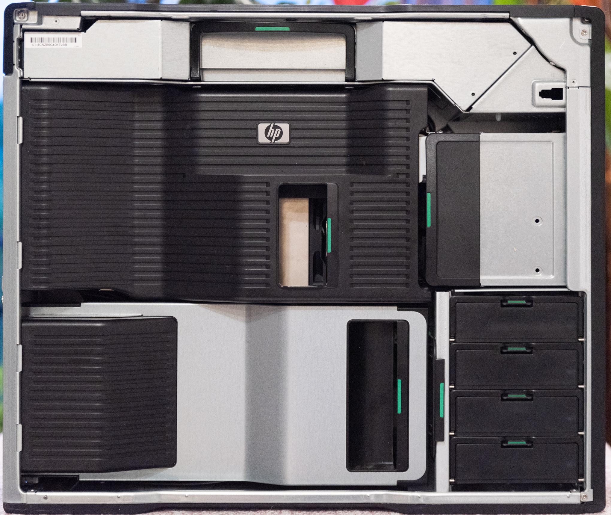 The HP Z800 modular interior case