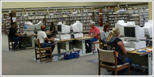 Computers in a library