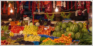 Business with fruits- explosion of colors