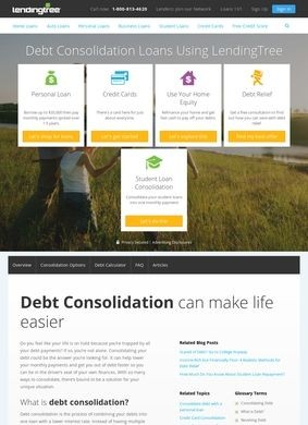 Lending Tree: Debt Consolidation