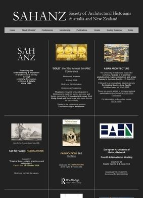 Society of Architectural Historians of Australia and New Zealand (SAHANZ)