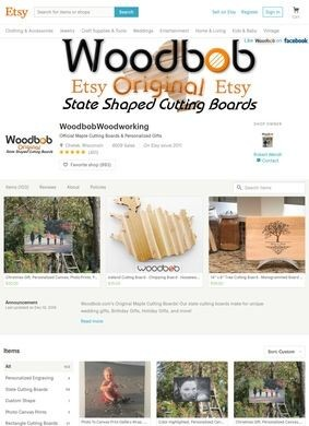 Woodbob.com's Original Maple & Bamboo Personalized Cutting Boards