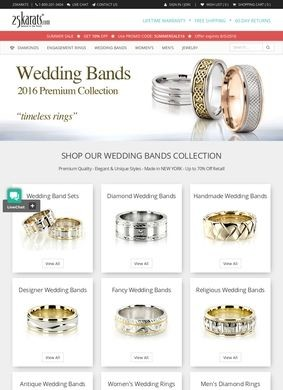 Wedding bands by 25karats