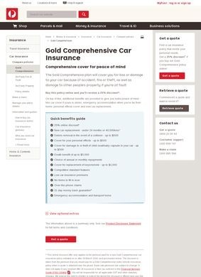 Auspost: Comprehensive Car Insurance