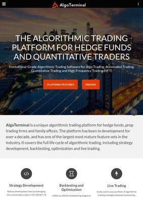 AlgoTerminal: Algorithmic Trading Platform