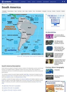 Worldatlas - South America