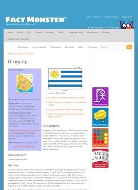 Fact Monster: Uruguay