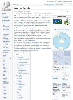 Wikipedia – Solomon Islands