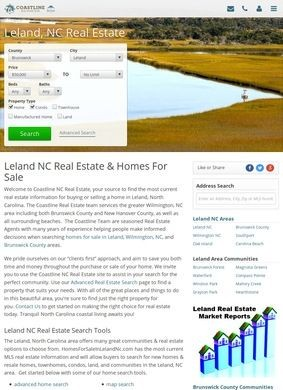 Homes For Sale In Leland NC - Coastline