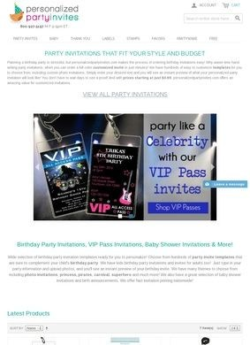 Personalized Party Invites.com
