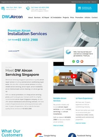 DW Aircon Servicing Singapore