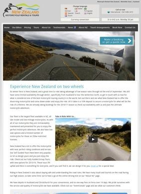 New Zealand Motorcycle Rentals and Tours