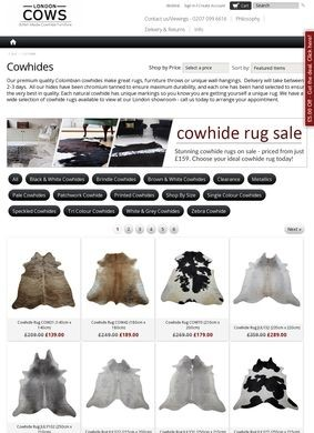 Cowhide Rugs By London Cows Ltd