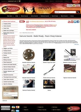 Twiggy's Treasures: Samurai Sword