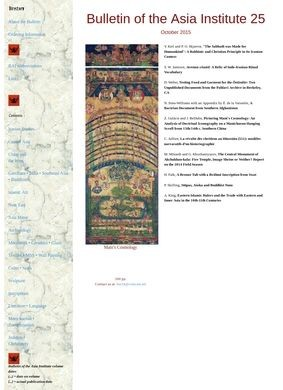Bulletin of the Asia Institute 23