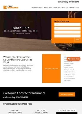 First Service Insurance: Contractors in California