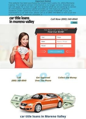 Car Title Loans Moreno Valley