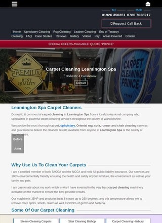 Carpet Cleaning Leamington Spa - Carpet Cleaning Prince