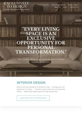 Interior Decorating by Exclusively To Design