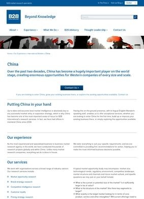 B2B International: China Market Research