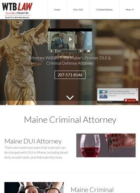 Maine Criminal Defense Attorney: The Law Office of William T Bly