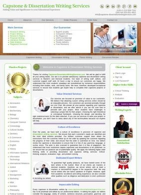 Capstone Project and Dissertation Writing Services