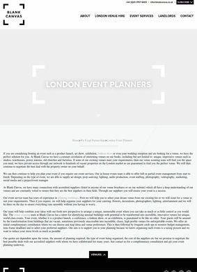 Blank Canvas: London Based Event Planners
