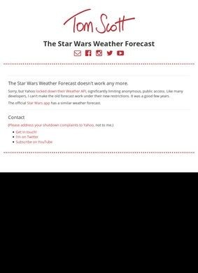 Star Wars Weather Forecast