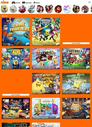 Nickelodeon Games