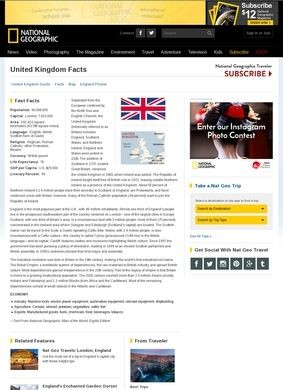 National Geographic: United Kingdom Facts
