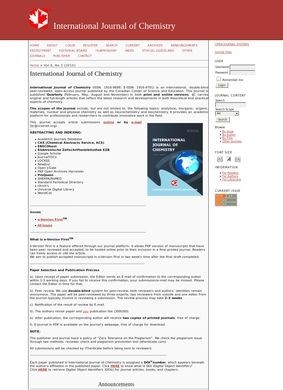International Journal of Chemistry