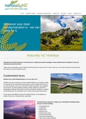 Naturally New Zealand Holidays