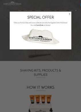 Gents Order Shaving Supplies