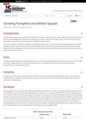 Growing Pumpkins and Winter Squash