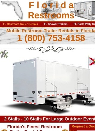 Affordable Wedding Restroom Trailer Rentals