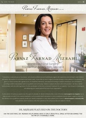 Beverly Hills Oral Surgeon: Dr. Parvaz Mizrahi