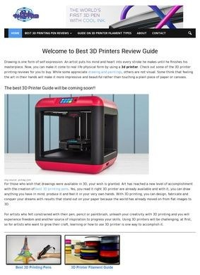 AllThat3D: 3D Printing, Printer and Pen