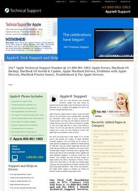Apple® Support Customer Service Phone Number