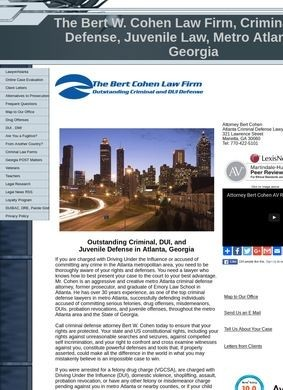 Criminal and DUI Law Firm of Bert W. Cohen