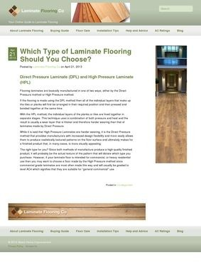 Direct Pressure Laminate Floors