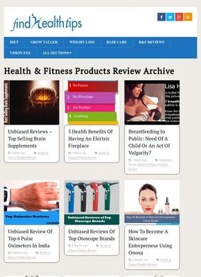 Find Health Tips: Fitness Products Review Tips