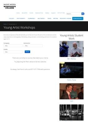 Young Artists Workshops - Main Media