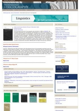 International Journal of Lexicography